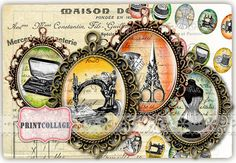Sewing images Digital Printable Sheet by PrintCollage Machine Image, Digital Collage, One Pic, Clip Art, Pendants, Printables, Etsy Shop, Esty, This Or That Questions