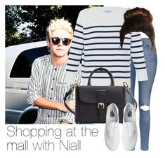 """""""REQUESTED: Shopping at the mall with Niall"""" by style-with-one-direction ❤ liked on Polyvore featuring Topshop, HANIA by Anya Cole, Burberry, Vans, OneDirection, 1d, NiallHoran and niall horan one direction 1d"""