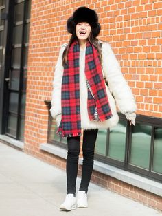 The Pop of Color Your Wintery Ensemble Wants via @WhoWhatWear