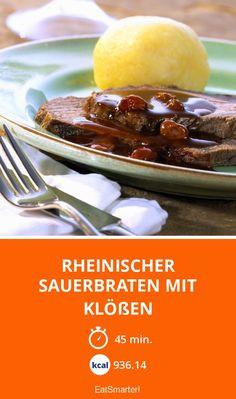 Rheinischer Sauerbraten Mit Klößen