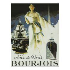 Vintage Poster, Paris, Parfum