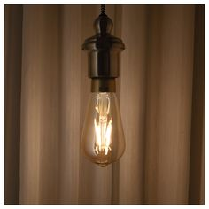 IKEA LUNNOM Led-lamp 400 lumen, dimbaar, druppelvorm bruin helder glas € В России не продается. Clear Glass, Glass Art, Lumiere Led, Luz Led, Led Lampe, Incandescent Bulbs, Light Decorations, Light Up, Diy Light