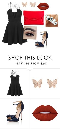 """KISS"" by luhpayne-948 on Polyvore featuring moda, Rare London, Latelita, Little Mistress, Lime Crime e Givenchy"
