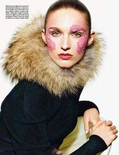 Beauty July 2014 (Vogue Italia).   Richard Burbridge - Photographer.   Recine - Hair Stylist.   Violette - Makeup Artist.   Gina Edwards - Manicurist.   Manuela Frey - Model.