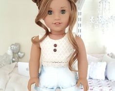 Browse unique items from SewCuteForever on Etsy, a global marketplace of handmade, vintage and creative goods. American Girl Doll Gymnastics, Ropa American Girl, Custom American Girl Dolls, American Girl Doll Pictures, American Girl Crafts, American Doll Clothes, American Dolls, My Life Doll Clothes, Barbie Clothes