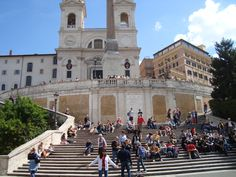 Spanish Steps - Rome, Italy at the very bottom of the steps as you turn right there is a tea-room that is very charming.