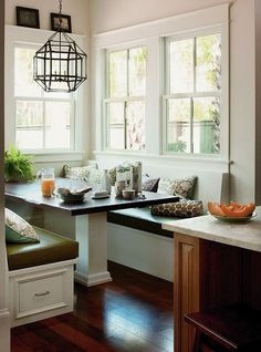 DIY-ify: Kitchen nook + DIY banquette seating | Nook, Kitchens and ...
