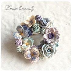 リースブローチ / ネックレス #crochet