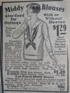 Advertisement for Middy tops @ The Vintage Traveler 1920s Advertisements, Like A Lion, British Royal Families, Fashion Design Sketches, Vintage Inspired Dresses, Roaring 20s, Ol Days, Silent Film, Blouse Vintage