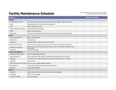 Building Maintenance Schedule Template - Building Maintenance Schedule Template , 17 Maintenance Checklist Templates – Pdf Word Pages Cleaning Schedule Templates, Checklist Template, Report Template, Action Plan Template, Business Plan Template, College Schedule, Weekly Schedule, Home Maintenance Schedule, School Timetable