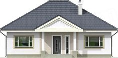Elewacja frontowa projektu Lucia IV DCB88c Better Homes, House Plans, How To Plan, Outdoor Decor, Santa Maria, Home Decor, Porch Roof, Decoration Home, Room Decor