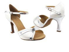 "Very Fine Shoes Ladies' Latin, Rhythm & Salsa Salsera Series SERA3710 (4 COLORS) 2.5"" (4.5, White Satin & Silver PU Trim) Very Fine Shoes http://www.amazon.com/dp/B00GEFMFLM/ref=cm_sw_r_pi_dp_lJsaub15Y9WNW"