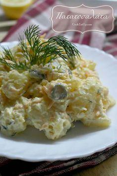 Kitchen Stories, Yams, Cheap Meals, Kfc, Greek Recipes, Potato Salad, Macaroni And Cheese, Bakery, Appetizers