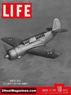 Life Magazine Copyright 1941 US Navy Dive Bomber - Mad Men Art: The Vintage Advertisement Art Collection Vintage Magazines, Vintage Ads, Vintage Advertisements, Vintage Posters, Vintage Photos, Life Magazine, Mix Media, Airplane News, Life Cover
