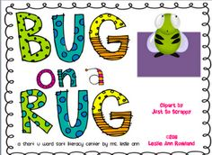 """Bug on a Rug! This word sort activity focuses on the short """"u"""" sound. Students will sort bug word cards into two different piles. Reading Lessons, Reading Strategies, Teaching Reading, Reading Fluency, Teaching Kids, First Grade Phonics, First Grade Reading, Short Vowel Games, Literacy Centers"""