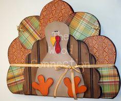 wood turkey door hanging