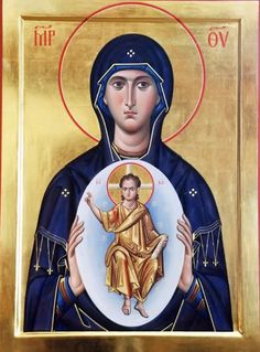 Day she found out she pregnant with the most precious gift of life Jesus Religious Images, Religious Icons, Religious Art, Lady Madonna, Madonna And Child, I Love You Mother, Mother Mary, Byzantine Icons, Byzantine Art