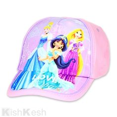 667c38226af Princess Girls Cap  Disney  Princess  Cinderella  Rapunzel  Jasmine  Caps  Disney