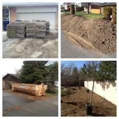 Setting the stage for this back yard renovation in Sandy, Utah. We are covering around 9500 sq. ft. in topsoil and sod.
