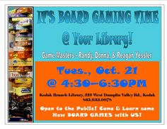 Family Board Game Time @ Your SCPLS Kodak Branch Library