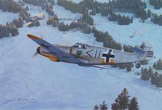 Me109F flown by Hans Philipp,of 1/JG54, engaging a Mig3 in 1942 by Steven Heyen