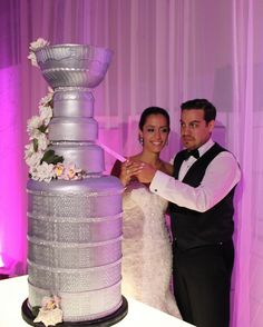 Stanley Cup Wedding Cake by SùcréDesignerCakes, via Flickr now THAT, ladies and gentlemen, is a wedding cake!