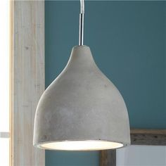 Mini Concrete Pod Pendant Light --- not so sure about this but I always file everything first then edit from there