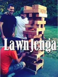 lawn jenga... Andrew is gonna start saving 4x4 left overs from work. .. how fun would this be?!