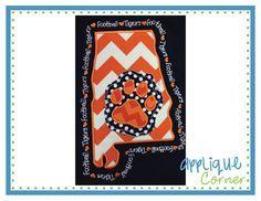 Sports Appliques, Applies Designs, Alabama Tigers, Tigers Appliques, Applique Patterns, Corner Wall, U.S. States, Embroidery Appliques, Applique Design