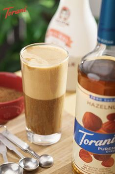 This easy at home keto coffee recipe is made with Torani Puremade Zero Sugar Hazelnut Syrup, instant coffee, hot water, and chilled almond milk. Create your perfect at home keto coffee here! Hazelnut Coffee Recipe, Keto Coffee Recipe, Coffee Drink Recipes, Coffee Drinks, Keto Recipes, Dessert Recipes, Desserts, Keto Drink, Instant Coffee