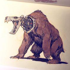 Cyborg brown bear.