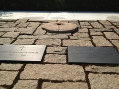 President Kennedy and his wife's Grave site at Arlington Cemetary