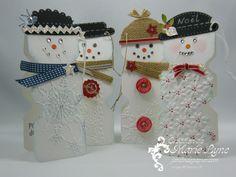 Bonhommes de neige - Snowmen - Envelop punch board - planche de marquage insta enveloppe  #stampinup #jardindepapier #enveloppepunchboard #planchedemarquageinstaenveloppe