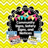 Life Skills Reading: Community Signs, Notices, and Safety Signs