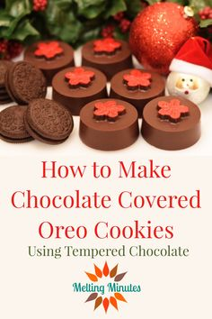 How to make Chocolate Covered Oreo Cookies using tempered chocolate