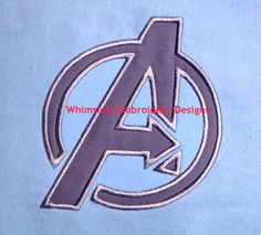 Avengers Logo Machine Embroidery Applique INSTANT DOWNLOAD - Whimsical Embroidery Designs