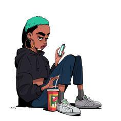 City Chronicles :: Inside the Mind of Visual Artist Gyimah Gariba Character Concept, Character Art, Concept Art, Animation Character, Character Sketches, Black Cartoon, Cartoon Art, Cartoon Drawings, Tag Art