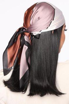 Hair Scarf Styles, Curly Hair Styles, Scarf In Hair, Lolita Hair, Fashion Nova Models, Ribbon Hair, Scarf Hairstyles, Women Lingerie, Block Head