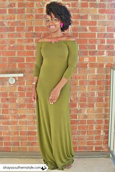 twist out side updo and diy off the shoulder maxi dress
