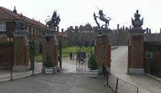 Hampton Court, outside London, England. Summer home of King Henry the 8th.