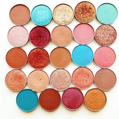 My must have makeup geek shades. The names ... Coming soon. Can you guess any of the shades?