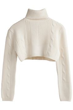 Cable knit crop polo   Weekday