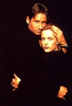 Mulder and Scully, looking exactly as cute as they are.
