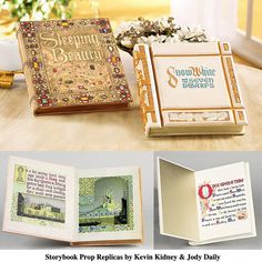 Storybook Prop Replicas Disney Storybook Prop Replicas by Kevin Kidney and Jody DailyDisney Storybook Prop Replicas by Kevin Kidney and Jody Daily Disney Diy, Disney Love, Walt Disney, Diy Invitations, Baby Shower Invitations, Disney Wedding Invitations, Shrek, Snow White Book, White Books