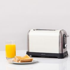 Cream 2 Slice Toaster #sabichi #kitchen #2slice #toaster #stainlesssteel #cream