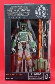"Boba Fett Star Wars Black Series 6"" Hasbro Figure Wave 2 2013 Free Shipping  #Hasbro"