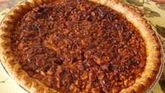 English Walnut Pie My grandmother's Woman's Club would hold bake sales, and this pie was always a hit. Hope you enjoy it. Pasta Primavera, Pie Recipes, Dessert Recipes, Desserts, Pie Dessert, Healthy Recipes, Walnut Pie, English Walnut, Pie