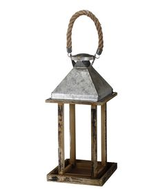 Look at this Weathered Wooden Lantern on #zulily today!
