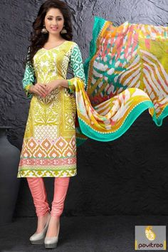 Amazing design with #peach color cotton casual dress with lowest rate. It is garlanded with abstract printed work on salwar suit of front and back side. #salwarsuit, #indiandresses, #dress, #dressesonline, #womensdresses, #churidarsalwarkameez, #dressesforwomen, #casualsalwarsuit, #casualdress, #salwarkameez More Product:  http://www.pavitraa.in/store/casual-dress/ Any Query: Call Us:+91-7698234040  E-mail: info@pavitraa.in