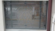 Finished Clearstory leadlight window - With 'sacrificial' covering toughened, glass cover